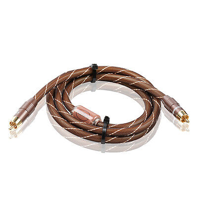 Choseal 4N OFC Digital Coaxial Audio & Video Cable Subwoofer Speaker Wire 1.5m