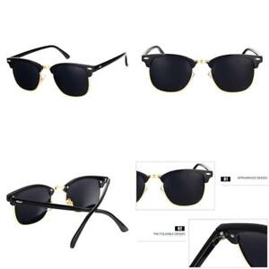 9e21b58b70 Image is loading Pro-Acme-Classic-Semi-Rimless-Polarized-Clubmaster- Sunglasses-