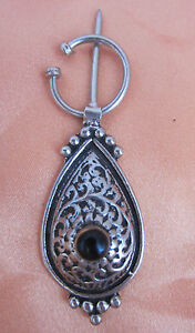 ETHNIC-COLLECTIBLE-BERBER-PIN-HLAL-PRIMITIVE-MOROCCAN-SILVER