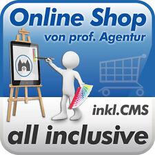 Online-Shop erstellen, Webshop Onlineshop mit CMS - alles inklusive - vom Profi