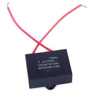 CBB61 5uF 450V 50/60Hz 2 Kabel Deckenventilator Motor Laufen ...