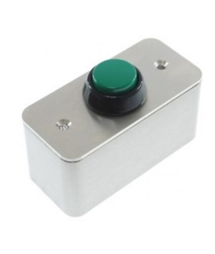 External Push Button Heavy Duty Steel with Green Push Button