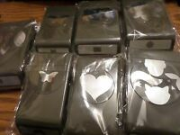 Stampin Up Punches: Butterfly, Heart, Decorative Label, Festive Flower, Fox+