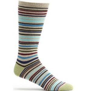 Men-039-s-Scandinavian-Stripes-Socks-Blue-Free-Shipping