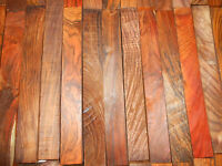 10 Highly Figured, Hand-picked Cocobolo Turning Squares 1.5 X 1.5 X 3 Inch Long