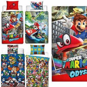 Official-Nintendo-Super-Mario-Licensed-Duvet-Covers-Single-Double-Odyssey-Maker