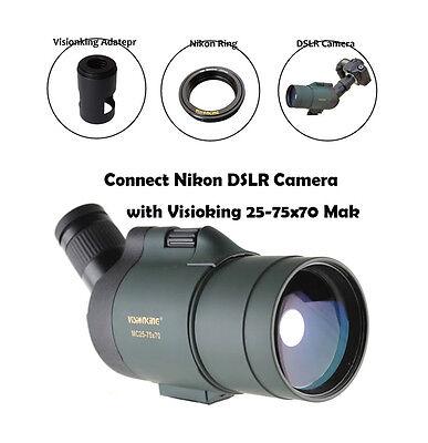 Visionking 25-75x70 Waterproof Spotting scope Monocular Telescope & Camera Mount