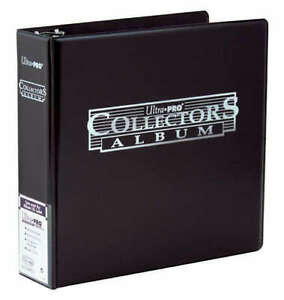 Ultra Pro 3 Ring Collector Album Storage Folder Binder MTG Yugioh Pokemon- BLACK 74427805241