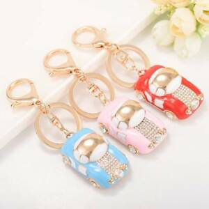Crystal-Rhinestone-Car-Keychains-Women-Handbag-Charms-Pendant-Key-Chain-SALE