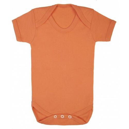 Baby Grow 100/% cotton plain short sleeve bodysuit super soft babygrow boy /& girl