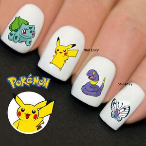 30 x pokemon nails pikachu nail art design decals water transfers image is loading 30 x pokemon nails pikachu nail art design prinsesfo Choice Image