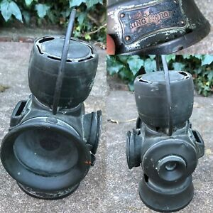 Antique Lucas 633 King Of The Road Lamp Carbide Steam Traction Car Light Lantern
