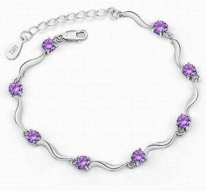718a6381a2cb4 New Women Fashion purple Silver Bamboo Crystal Rhinestone Cuff ...