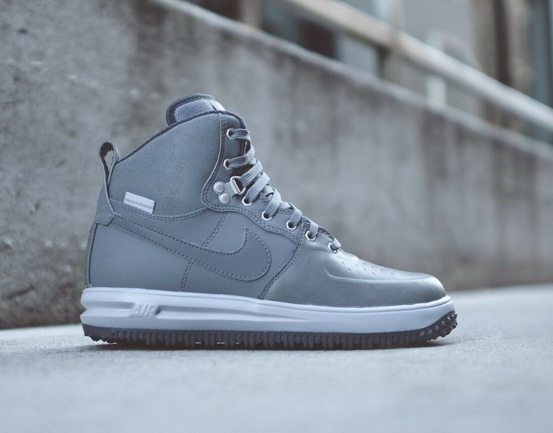 Nike Air Lunar Force 1 Sneakerboots Sneaker Boots Wolf Gray 654481-004 sku AA