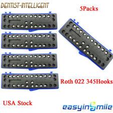 5sets Dental Ceramic Brackets Orthodontic Mini Roth 022 Braces 3 4 5 Hooks 5 5