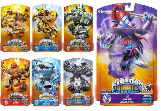All 7 Skylander Giants including ninjini NOT presale - IN HAND NOW