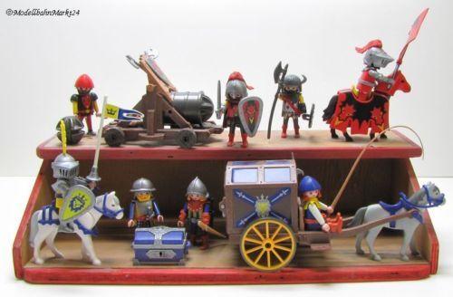 PLAYMOBIL 8 Ritter Pferde Kutsche Kanone Fertigmodell