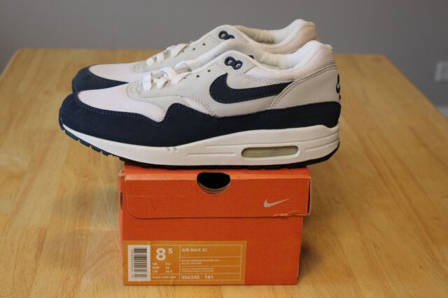 Nike Air Max 1 SC WhiteObsidian Neutral Grey 306345 141 Size 8.5 DS New (2003)