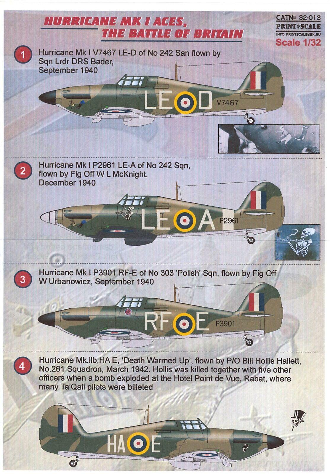 IIB avec RAF decals NOS 1//72 Revell 04183 Hawker Hurricane Mk