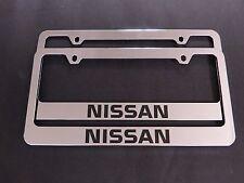 2 Brand New nissan chromed METAL license plate frame
