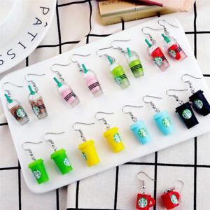 Stylish-Women-Drink-Bottle-Earrings-Coffee-Cup-Pattern-Dangle-Pendant-Ear-Hook