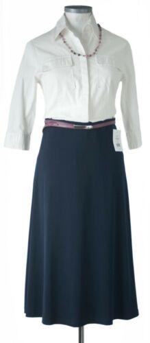 Neu Dresses Unlimited bürofeiner Midirock Mitternachtsblau Gr.38