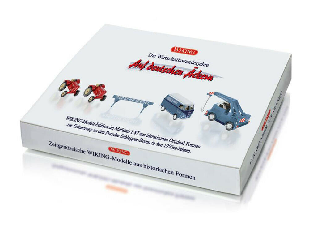 Wiking 099095 h0 tractor set Porsche remolcador