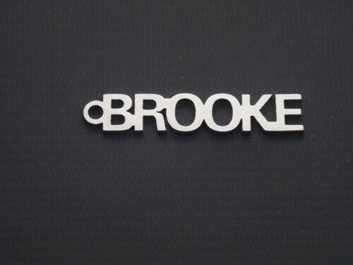 Brooke name keyring key-chain porte-clés Schlüsselanhänger ideal gift present