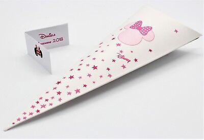 N 20 Scatola Bomboniera Forma Cono Portaconfetti Disney Minnie Stars Rosa