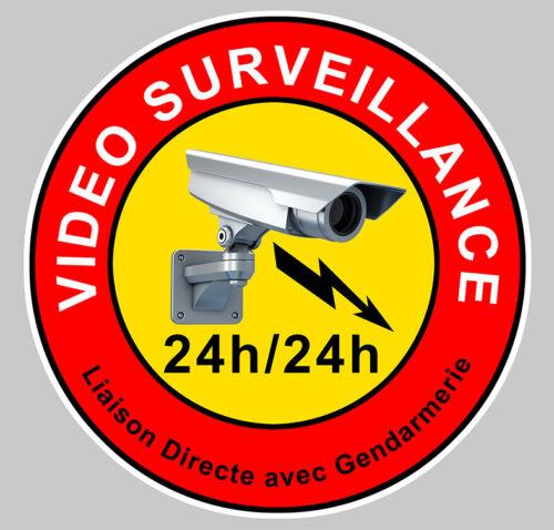 VIDEO SURVEILLANCE CAMERA PROTECTION 24h//24h AUTOCOLLANT STICKER VA046