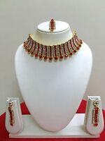 Indian Bollywood Wedding Jewelry Gold Bridal Fashion Jewellery Necklace Set