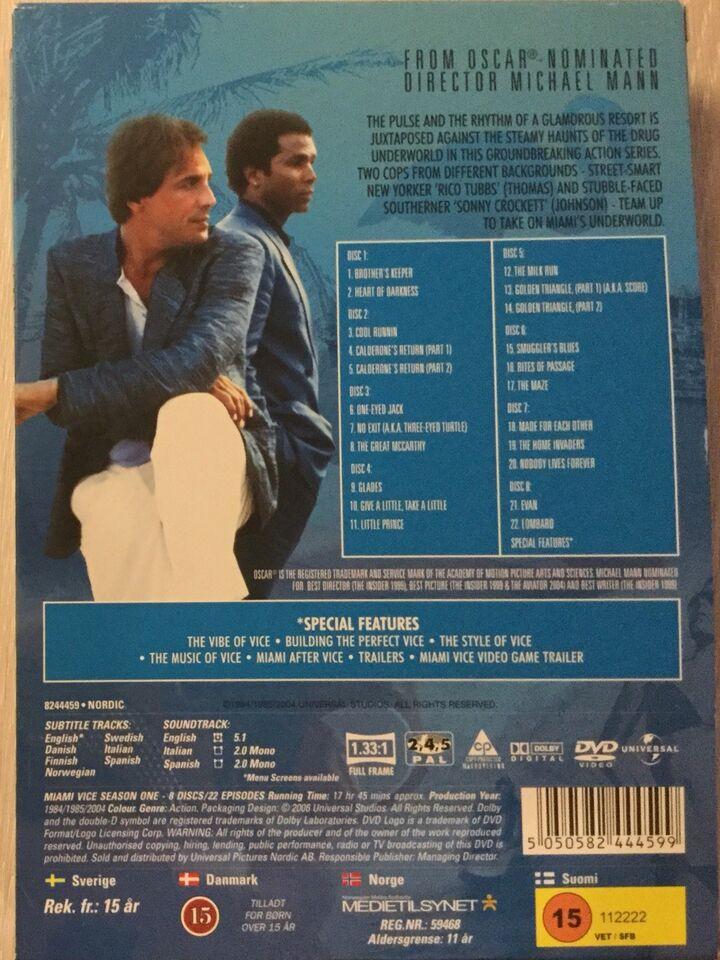Miami Vice, DVD, TV-serier