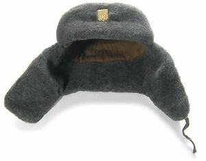Image is loading ORIGINAL-MILITARY-WINTER-HAT-USHANKA-BADGE-CZECH-ARMY- 6e685c9f355