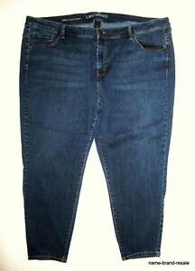 bbfc30ea426 LANE BRYANT Skinny JEANS Womens PLUS Size 26 Short 4X Dark Wash ...