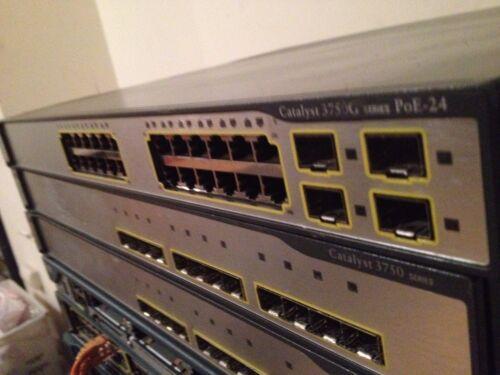 CISCO WS-C3750G-24PS-E  3750G SERIES Gigabit Switch 1 YEAR WARRANTY C3750G