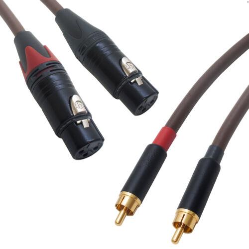 Belden 8402 Klassischer HiFi Audiophile RCA Buchse XLR Verbindungen Stereo Paar