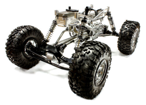 C24966SILVERT4 V2 Alloy 110 Trail Racer 4WD All Terrain Scale Crawler ARTR