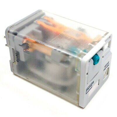 DAYTON 1EHX8 RELAY DPDT  PLUG IN 16AMP 120VAC SINGLE COIL 9 BLADE
