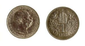 Ambitieux S1164_32) 1 Corona 1915 Franz Josef Vienna Austria Toned Parfait Dans L'ExéCution