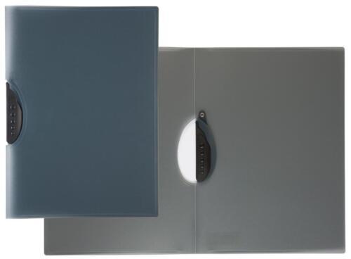 4 Swinghefter DIN A4 Klemmhefter//Clipmappe Farbe transluzent schwarz