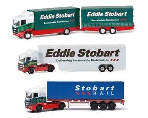 EDDIE STOBART ARTIC MODEL WHITE BOX TRAILER CORGI EDDIE STOBART CONTAINER TRUCK