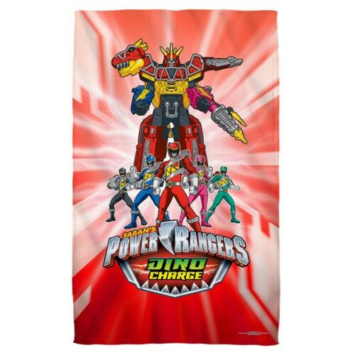 New 27x52 Dino Charge Power Rangers Beach Bath Pool Towel Gift Mighty Morphin
