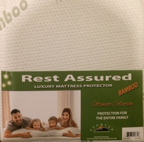 Mattress Protector Waterproof Bamboo Fibers Soft Hypoallergenic Fitted Pad Cover