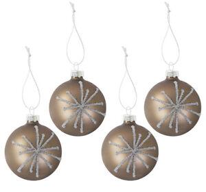 Glas-Christbaumkugeln-Perla-4er-Set-Christmas-Tree-Decor-Balls-Decoration-6cm