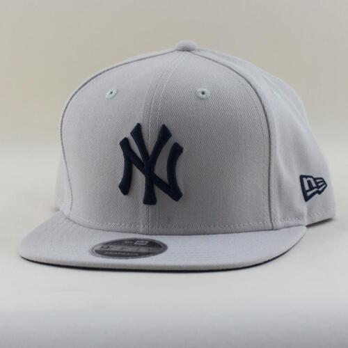 NY Yankees New Era MLB 9Fifty Flat Brim Baseball Hat In Stone Colour