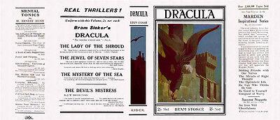 umschlag Für 1928 Rider Uk Edition BüGeln Nicht Bücherzubehör Methodisch Bram Stoker Dracula Faksimile Dust