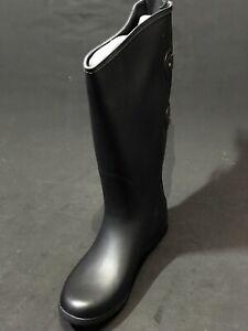 New-Chooka-Versa-Wide-Calf-Tall-Women-039-s-Black-Rain-Boots-Size-US-8-M-Display