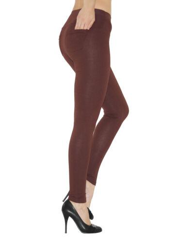 Leggings Donna Pantaloni LEGGING COTONE LUNGO CON TASCHE ALTA federale lunga röre