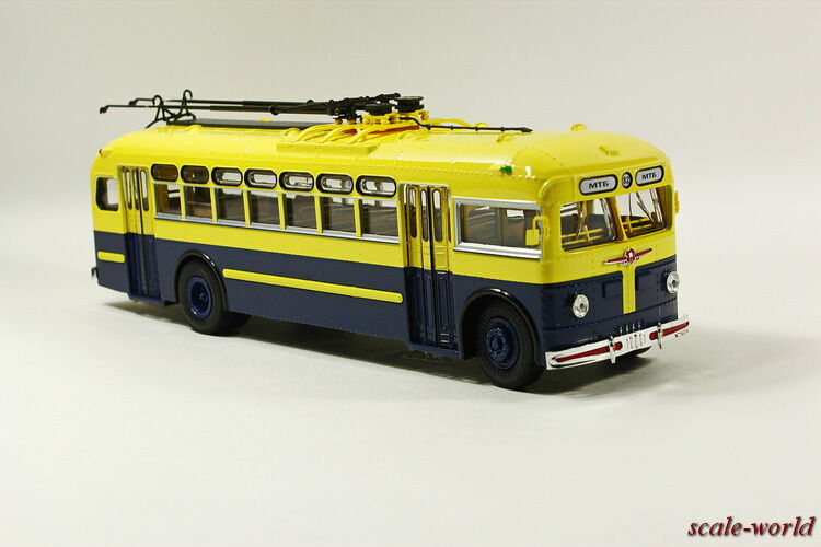 MTB-82D produced by ZiU (yellow with bluee), scale model cars 1 43