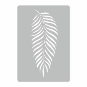 45x65 oder 65x95 Wiederverwendbare Kunststoff-Schablone nathlos PALMBLATT #3